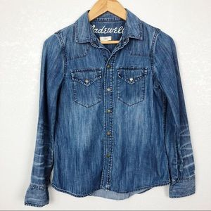 Madewell Cowgirl Denim Button Down Top